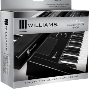 Williams Audio ESS1 Essentials Pack for Legato Digital Piano with Power Supply, Sustain Pedal, Headphones