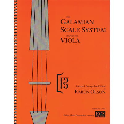 E.C. Schirmer The Galamian Scale System For Viola, Parts I & II by Ivan Galamian