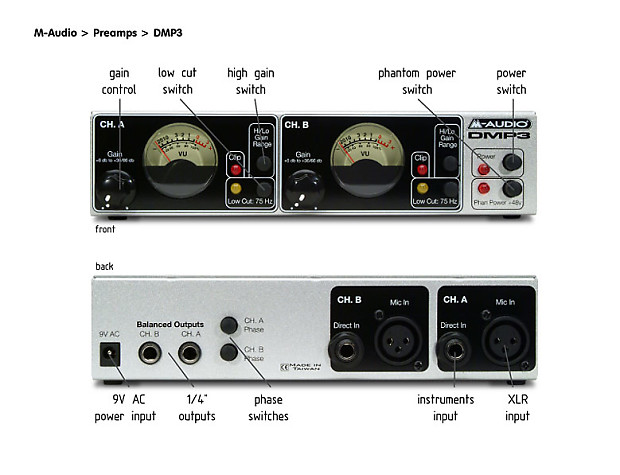 M-Audio DMP3 Two Channel Mic Preamp