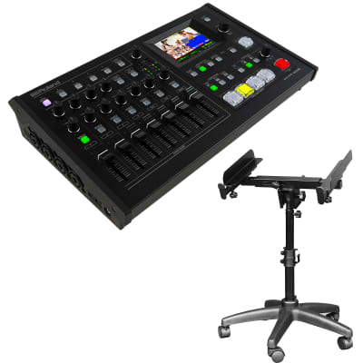Roland VR-4HD HD AV Mixer - On-Stage MIX400 Mixer Stand