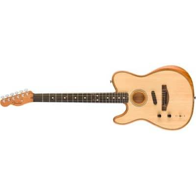 Fender American Acoustasonic Telecaster Acoustic Guitar, Natural for sale