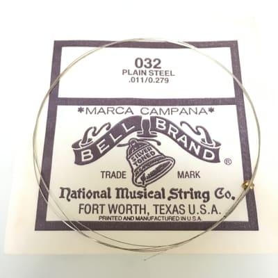Marc Campana Bell Brand Silver Toned Plain Steel Guitar String .011