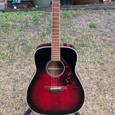 Yamaha FG-720S Red Label 2003 Dark Sun Red for sale