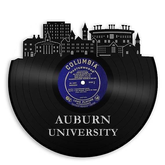 Auburn University Vinyl Wall Art - Gold / Framed | Reverb