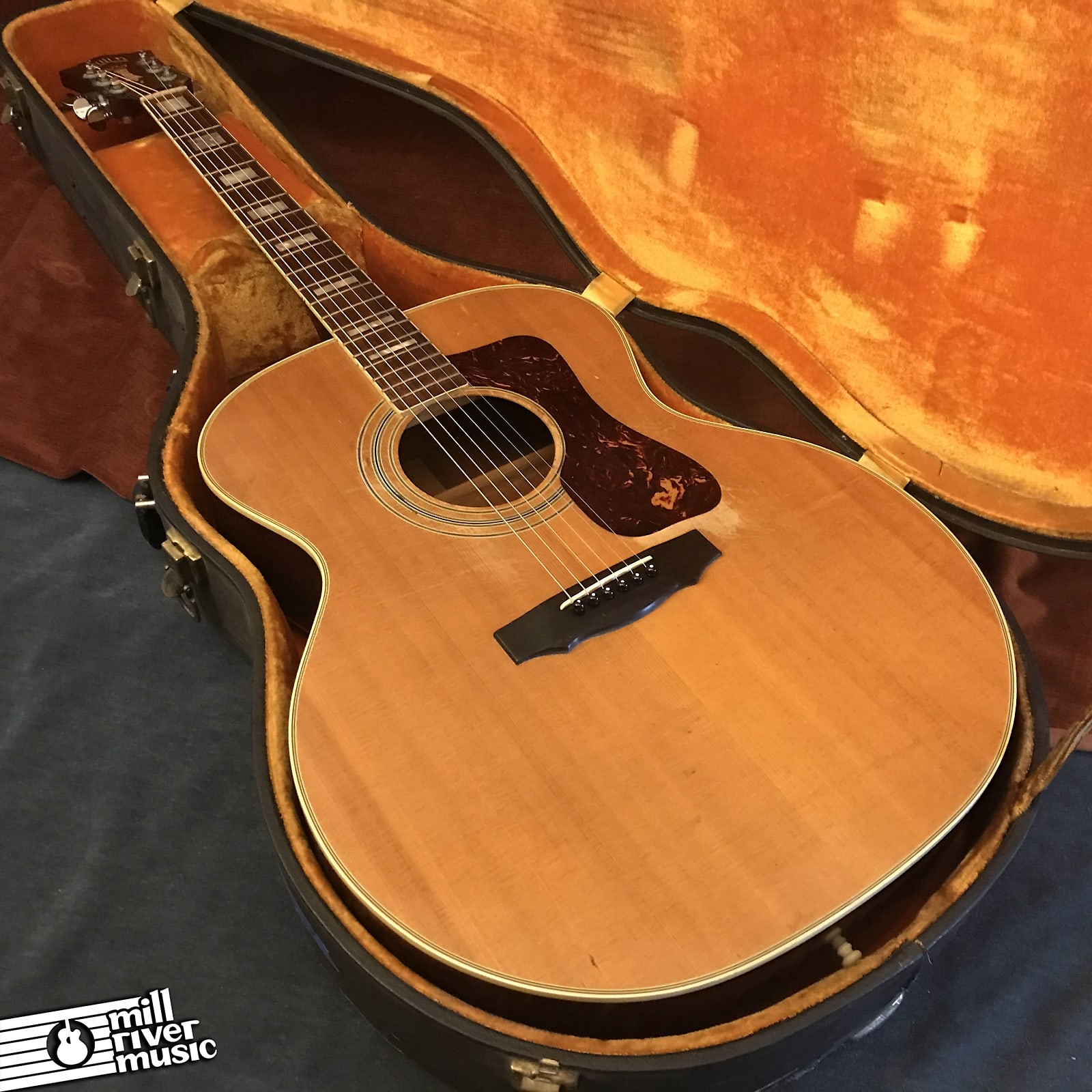 Guild F-48 Jumbo Vintage Acoustic Guitar Natural 1973 Westerly RI w/ OHSC
