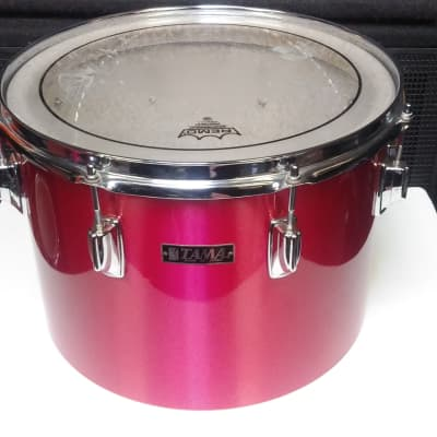 """RARE! 1970's Tama Made In Japan Ruby Red Wrap 10 x 14"""" Imperial Star Concert Tom - Sounds Great!"""