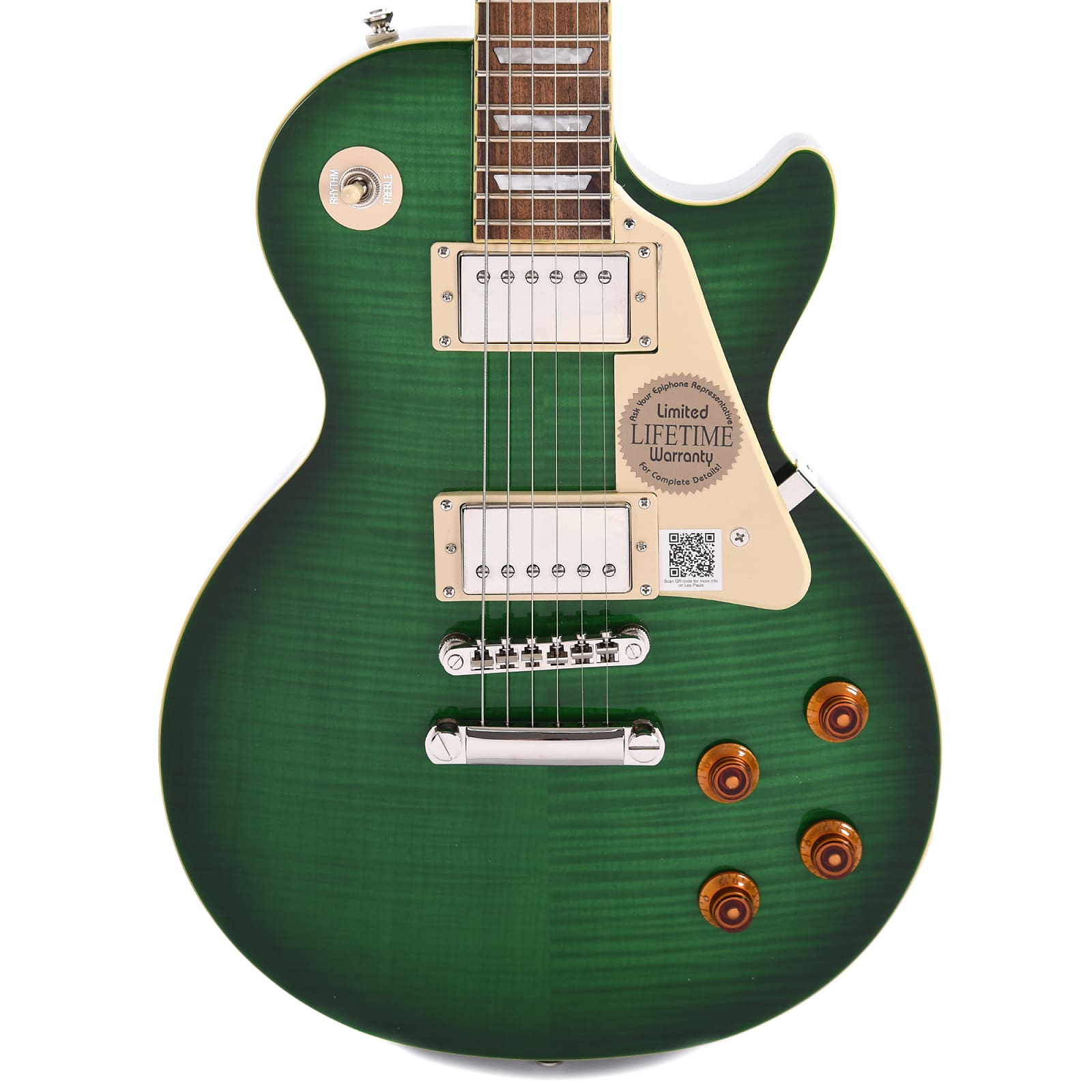 abgeholt gesamte Sammlung Suche nach Beamten Epiphone Les Paul Standard Plus-Top Pro Green Burst w/ProBuckers & Coil-Tap