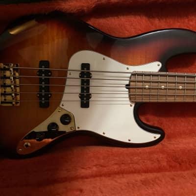 Fender 50th Anniversary American Standard 5 String Jazz bass  1996 Sunburst for sale