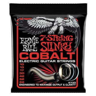 Ernie Ball P02730 Cobalt 7 String Electric Guitar Strings Skinny Top