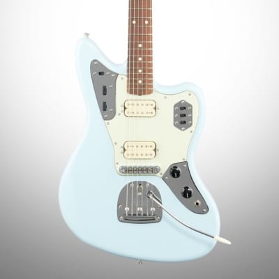 Fender Vintera '60s Jaguar Modified HH Electric Guitar, Pau Ferro (with Gig Bag), Sonic Blue for sale