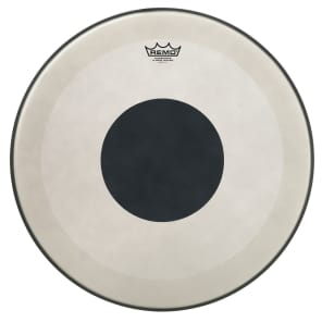 "Remo Powerstroke P3 Coated Bottom Black Dot Bass Drum Head 20"""