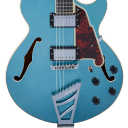 D'Angelico Premier SS Stairstep Tailpiece Ocean Turquoise w/Gigbag