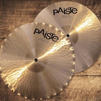 "Paiste  2002 Sound Edge Hi hats 13"" prototype cymbals  Natural"