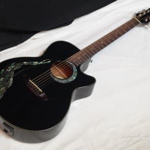 Luna Fauna Eclipse Acoustic-Electric Guitar Black