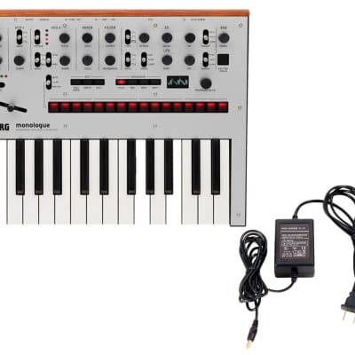 Korg Monologue Silver + Power Supply