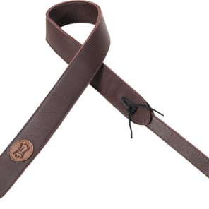 """Levy's MG12SA Garment Leather 2"""" WIDE Padded LEATHER GUITAR STRAP 2016 Burgundy"""