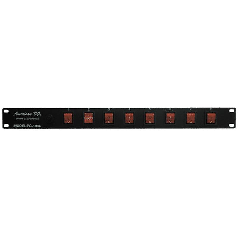 american dj pc 100a 8 channel lighting power center reverb. Black Bedroom Furniture Sets. Home Design Ideas
