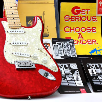 "FENDER USA Custom Shop Stratocaster LTD MOTO  ""Ruby Red + Maple"" (1995)"