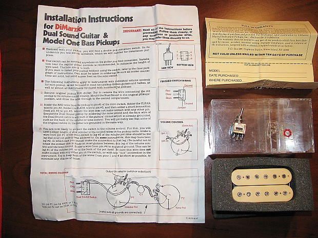 dimarzio dual sound wiring diagram