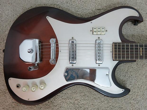 vintage 1960s kawai teisco 2 pick up guitar sunburst weird reverb. Black Bedroom Furniture Sets. Home Design Ideas