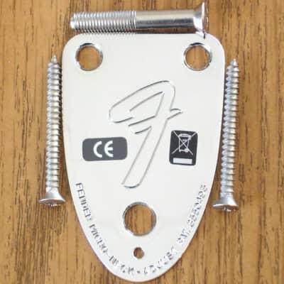 "Vintage 72 RI Custom Fender Telecaster Tele ""F"" NECK PLATE Chrome Guitar"