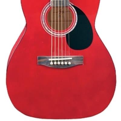 Jay Turser JJ43-TR JT J Jr. 3/4 Size Acoustic Trans Red New, Ships Free for sale