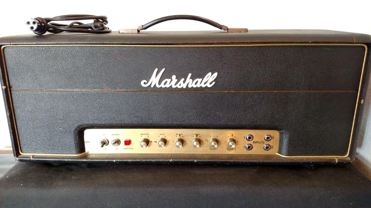 1974 marshall jmp mkii 50w superlead black gold reverb. Black Bedroom Furniture Sets. Home Design Ideas