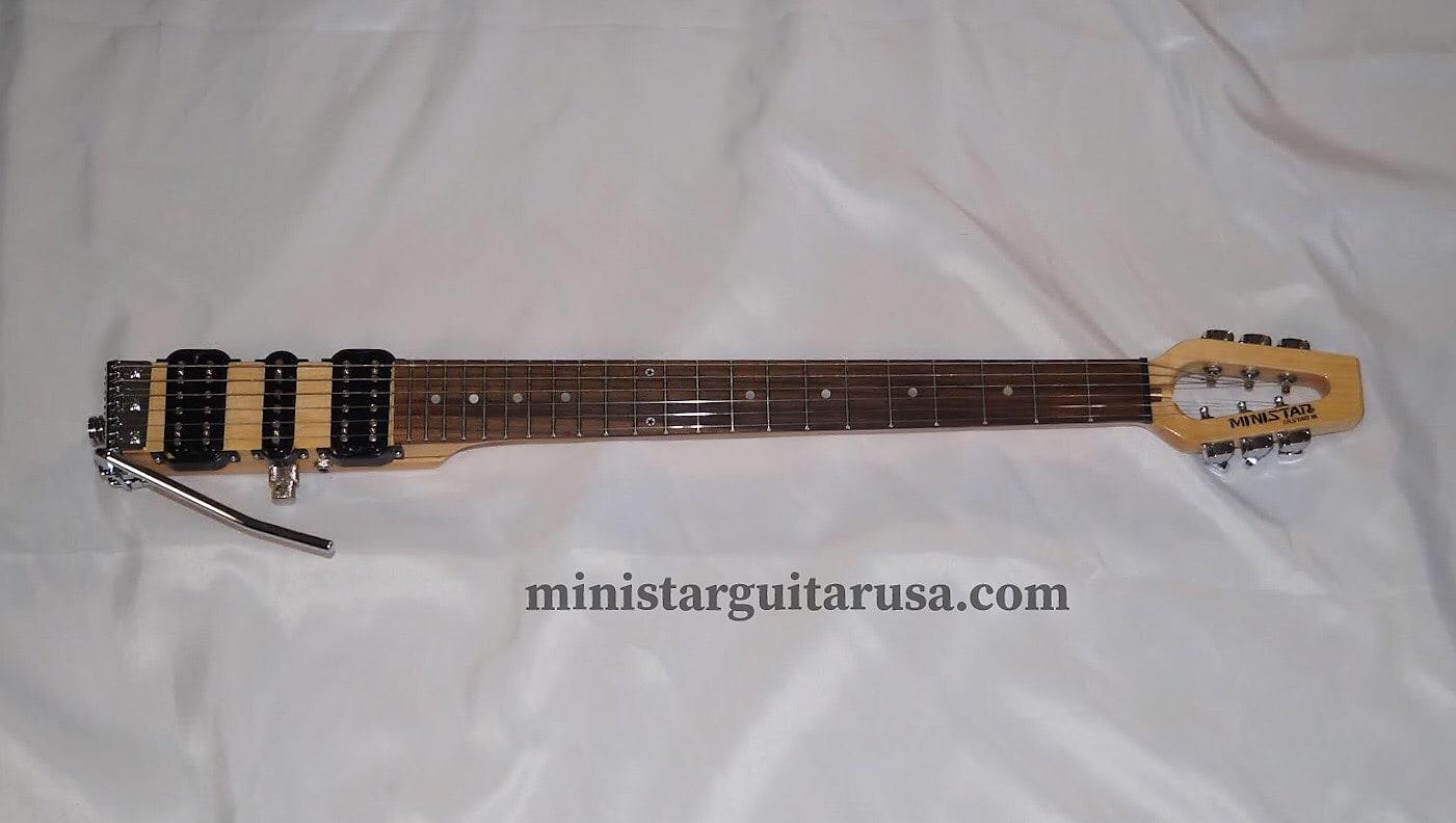 Original S.Korean Ministar Castar 3 HSH Travel Guitar  Built in Head Set Amp Fender Scale