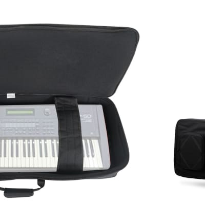 Rockville 61 Key Padded Rigid Durable Keyboard Gig Bag Case For ROLAND XP-50