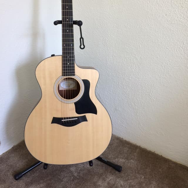 Taylor 114ce Sitka Spruce / Walnut Grand Auditorium with ES2 Electronics (2017 - 2018) image