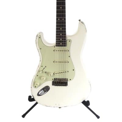 Mark Jenny MJT VTS Lefty Custom Relic Electric Guitar SME Pickups Warmoth Gibson Scale Vintage White