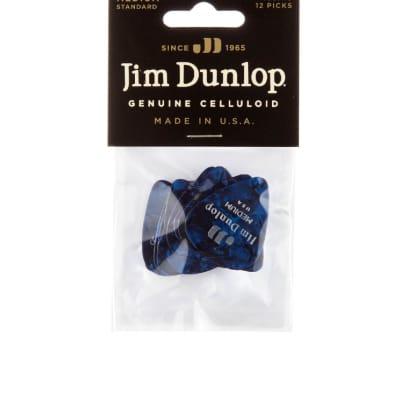 Dunlop 483P10MD Celluloid Standard Classics Medium Guitar Picks (12-Pack)