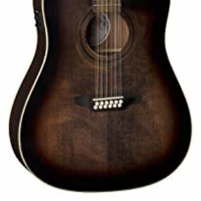 Luna Guitars Art Vintage Dread Solid Top 12 String A/E Guitar for sale