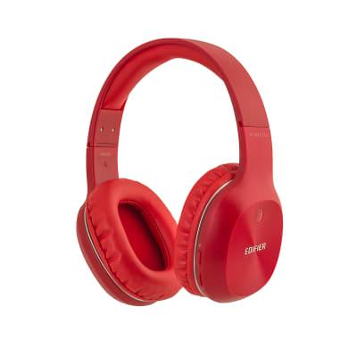 Edifier W800BT Wireless Bluetooth Lightweight Headphones Built-In Mic - Red
