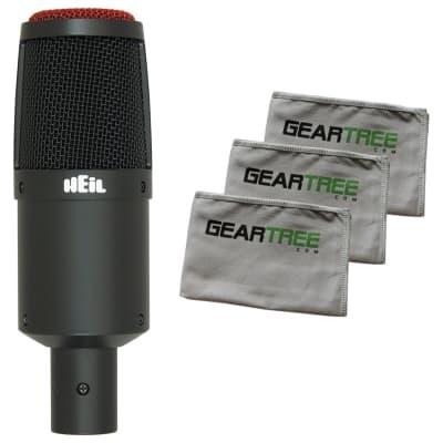 Heil Sound PR30B Dynamic Cardioid Large-Diaphragm Mic Bundle w/Cloth Pack