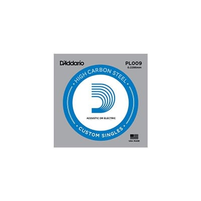 D'Addario Nickel Plain Electric/Acoustic Single String PL009
