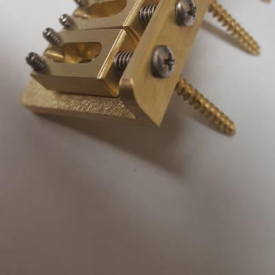 """2-7//32/"""" Killer Guitar Components Vintage Brass Hardtail Bridge Solid-Milled"""