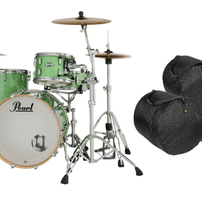 Pearl Masters Complete 24x14_13x9_16x16 Absinthe Sparkle Shell Pack +FREE Gig Bags Authorized Dealer