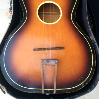 Tenor Rare Vintage USA Made Granada Tenor Guitar 1930's/1940's Brownburst Finish W/HSC for sale