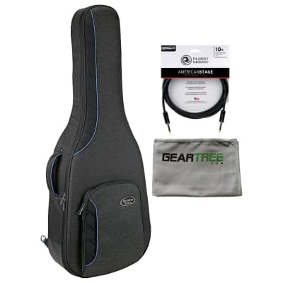 Reunion Blues RBCA2 RB Continental Voyager Dreadnought Guitar Case w/ Polish Cloth and American Stage Cable