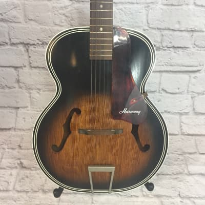 Harmony H1215 Archtop Acoustic Guitar Sunburst for sale