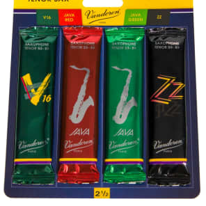 Vandoren SRMIXT25 Tenor Saxophone Mix Card Jazz Reed Variety Pack - Strength 2.5