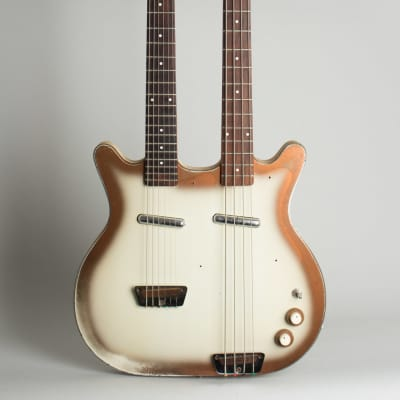 Danelectro  Doubleneck Model 3923 Semi-Hollow Body Electric Guitar (1964), ser. #5074, black gig bag case. for sale