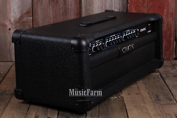 crate gt1200h 3 channel electric guitar amplifier head 120 reverb. Black Bedroom Furniture Sets. Home Design Ideas