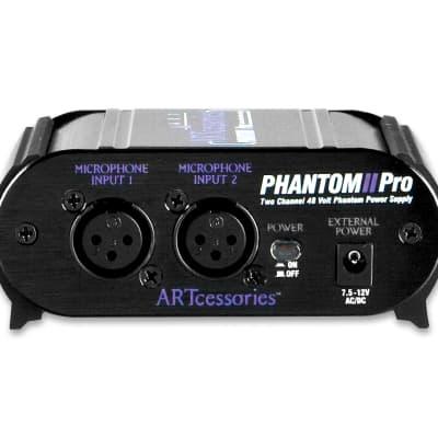 ART PHANTOM2PRO Phantom II Pro Dual Channel Phantom Power Supply