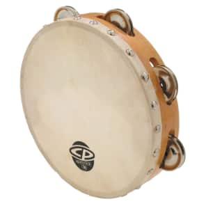 "Latin Percussion CP378 CP 8"" Single-Row Wood Tambourine w/ Head"