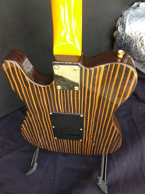 bloode axe telecaster tele strat has a one piece zebrawood reverb. Black Bedroom Furniture Sets. Home Design Ideas
