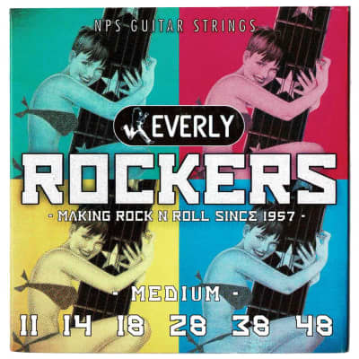 Everly 9011 Rockers Medium 11-48 NPS Electric Guitar Strings for sale