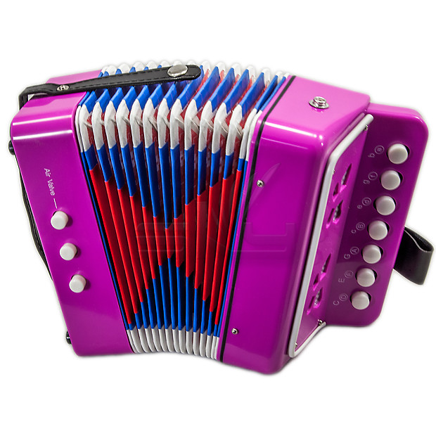 SKY Accordion Hot Pink Color 7 Button 2 Bass Kid Music Instrument High  Quality Easy to Play