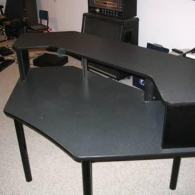 Middle Atlantic Corner Desk with Overbridge late 90's Blue-Grey